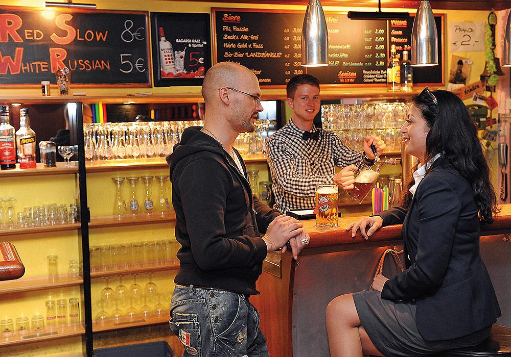 Memmingen Grunes Haus Restaurant Bar Landzunge
